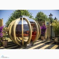 Дизайнерская беседка для сада из бруса сосны