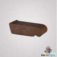 Керамический подоконник Lode маленький коричневый, 225*60*88 мм