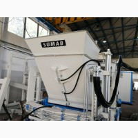 Вибропресс для производства тротуарной плитки, бордюров, бетонных блоков SUMAB R-300 L