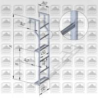 Лестница навесная алюминиевая (лна-пв) для полувагонов