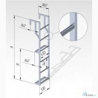 Лестница навесная алюминиевая (ЛНА) для полувагонов