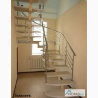 Металлическая интерьерная лестница в Барнауле