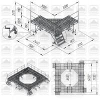 Площадка рабочая передвижная прп-1, 2 (3х3)