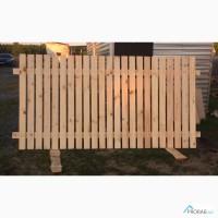 Забор деревянный (секция) из евро штакетника