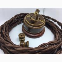 Ретро кабель и изолятор керамический для проводки