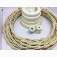 Ретро кабель для винтажной проводки на изоляторах