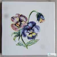 Плитка ручной работы Полевые цветы