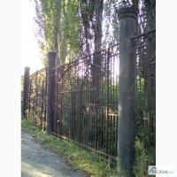 Забор кованый массивный и секции заборные пруток 20х20