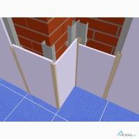Алюминиевый профиль :Омега, Пи, Эль, Эф длм монтажа стеновых панелей на основе(ГКЛ, СМЛ, ГСП)