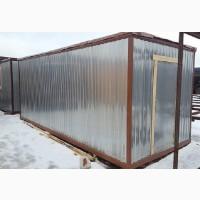Блок-контейнер с пластиковым окном и зимним утеплением