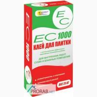 Клей плиточный ЕС-1000, 25кг для внутренних работ