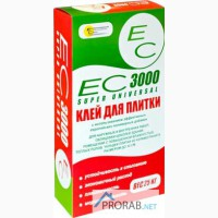 Плиточный клей Ес-3000 для керамогранита и теплых полов, высокоточный, 25кг