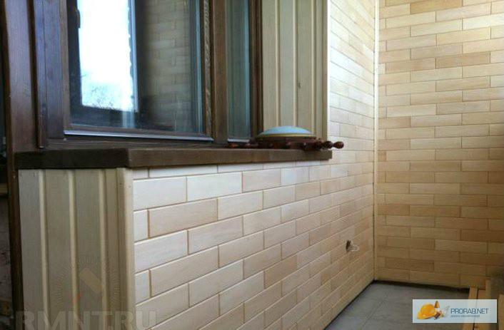 Панели для балкона в виде кирпича..