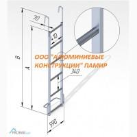 Лестница навесная с алюминиевыми крюками ЛНА-ак