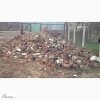 Бой кирпича строительный мусор