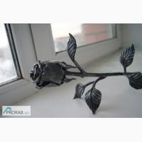 Кованная роза, железный цветок