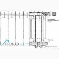 Биметаллический радиатор Rifar Base 200/4 секции в Москве