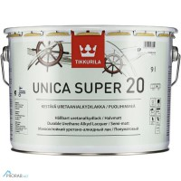 Unica Super 20 - Уника Супер полуматовый лак 9л Tikkurila (Финляндия)