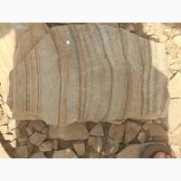 Камень песчаник природный тигровый с разводом