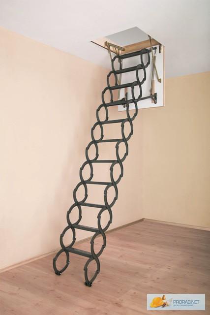 Фото 2. Чердачная металлическая термоизоляционная лестница FAKRO LST 70х120х300мм