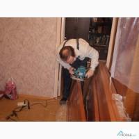Замена стекла в межкомнатной двери, ремонт